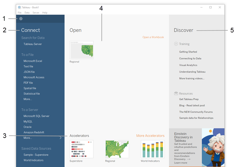 Step 1: Connect to a sample data source - Tableau