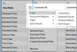 Examine and Filter Your Data - Tableau