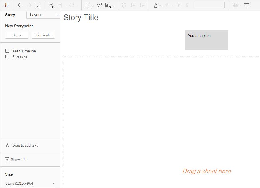 Erstellen einer Story