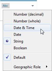 Convert a Field to a Date Field - Tableau