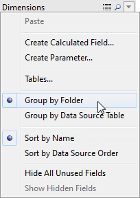 Organise and Customise Fields in the Data Pane - Tableau