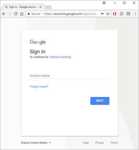 Google Analytics - Tableau