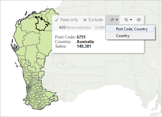 Create Territories on a Map - Tableau