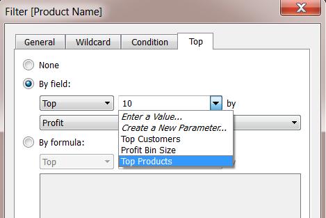 Create Parameters - Tableau