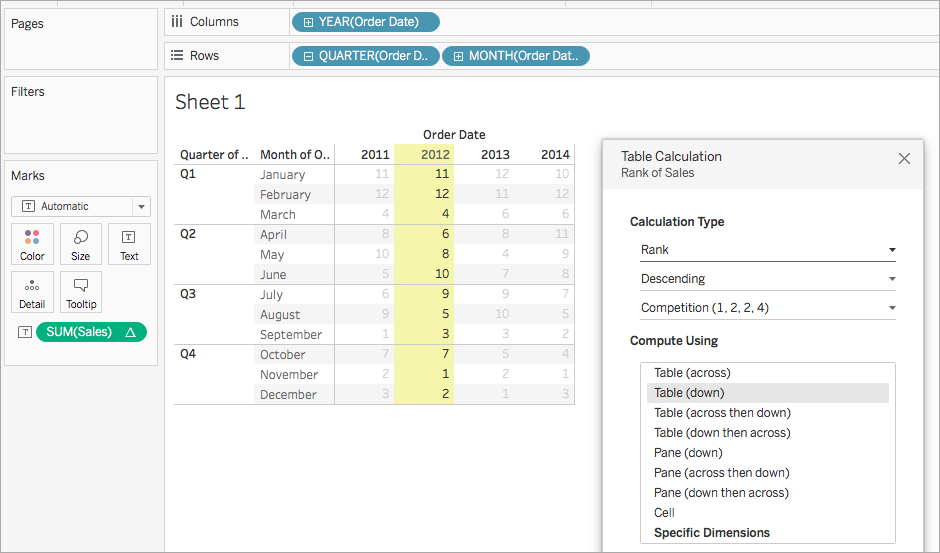 Table Calculation Types - Tableau