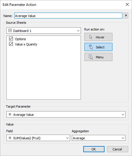 Parameter Actions - Tableau