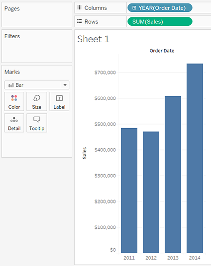 Build a Bar Chart - Tableau