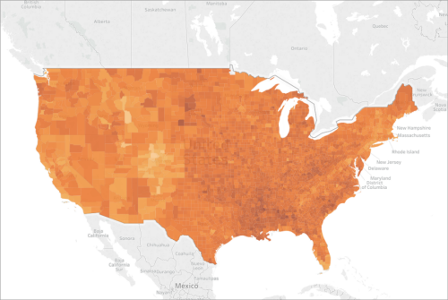 Show A Map Of The United States Of America.Create Maps That Show Ratio Or Aggregated Data In Tableau Tableau