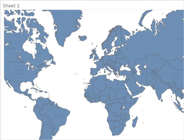 You Should Now See A Map Projection Where All Countries Are Filled With A Solid Color