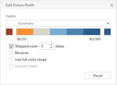 Color Palettes and Effects - Tableau