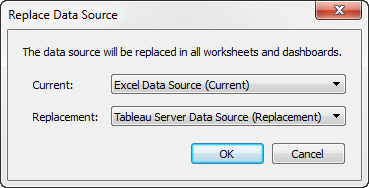Replace Data Sources - Tableau