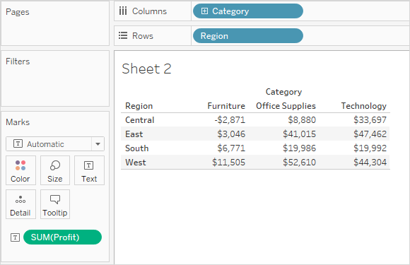 Measure Values and Measure Names - Tableau