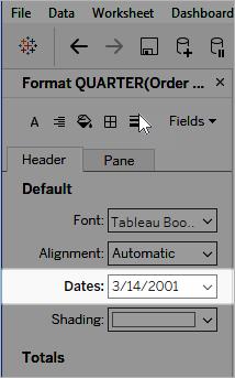 Custom Date Formats - Tableau
