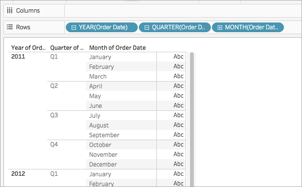 Date Functions - Tableau