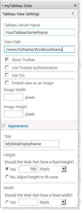 Embed Tableau Server Views into SharePoint (Active Directory