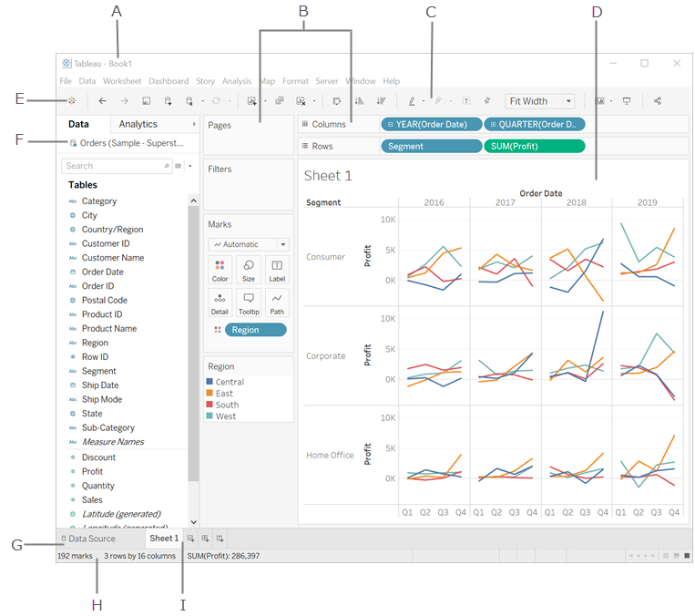 The Tableau Workspace