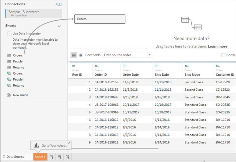 build a basic view to explore your data  tableau depending on how your data is structured you might need to do more data  preparation and integration before you start exploring it in tableau