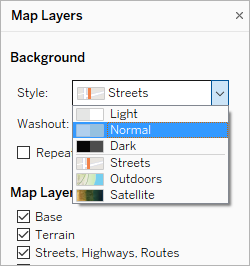 Customize How Your Map Looks - Tableau