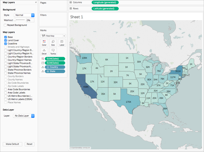 Get Started Mapping with Tableau