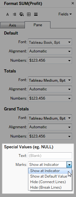 Format Numbers and Null Values - Tableau