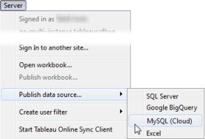 Publish a Data Source - Tableau