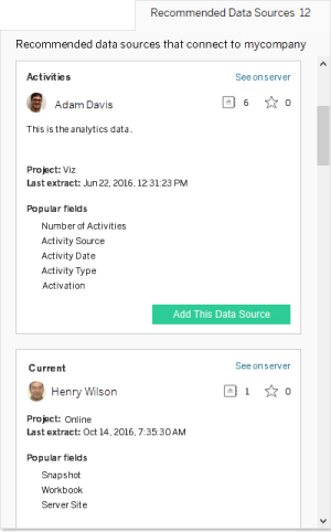 Use Certified and Recommended Data Sources and Tables - Tableau