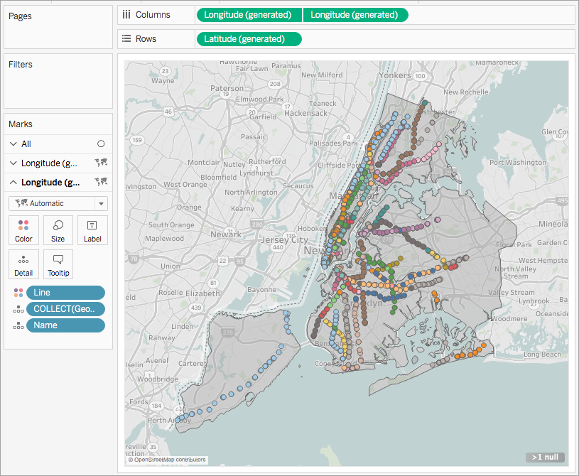 New York Subway Map As Layer.Create Tableau Maps From Spatial Files Tableau
