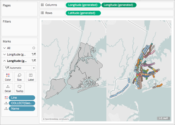 Create Tableau Maps From Spatial Files - Latitude and longitude map of the us