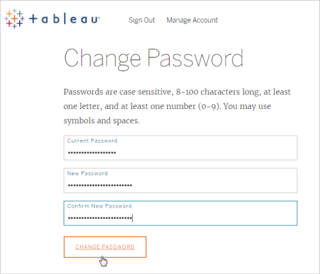 Manage Your Account Settings - Tableau