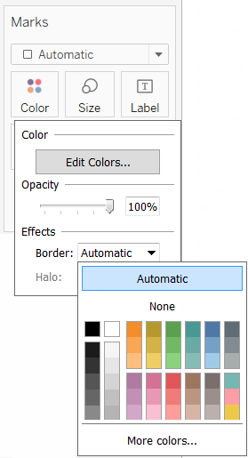 Color Palettes And Effects Tableau