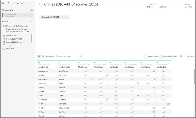 Nettoyer Les Donnees De Fichiers Excel Csv Pdf Et Google Sheets A L Aide De L Interpreteur De Donnees Tableau