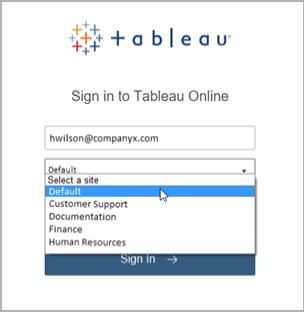 Tableau Server Á¾ãŸã¯ Online Á¸ã®ã'µã'¤ãƒ³ã'¤ãƒ³ Tableau