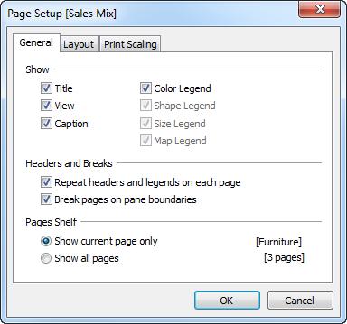 Printing Worksheets - Tableau