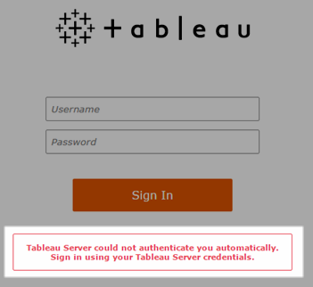Failed To Authenticate Username And Password Tableau Server