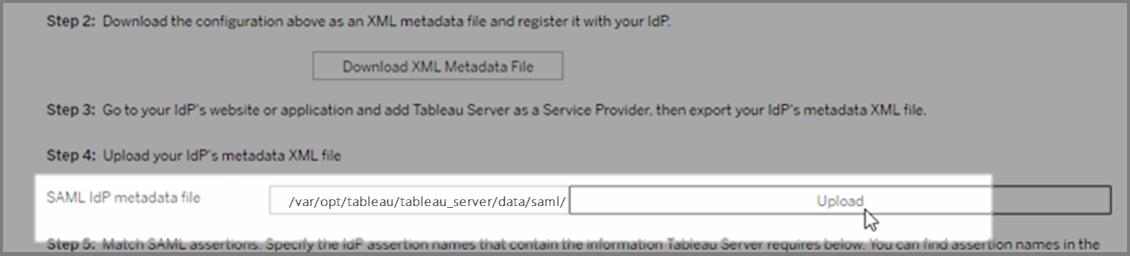 Configure Server-Wide SAML - Tableau
