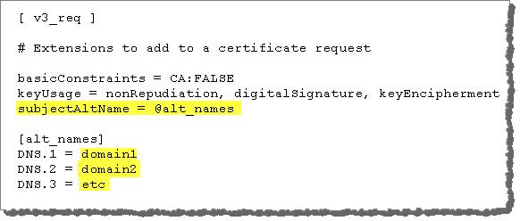 Beispiel: SSL-Zertifikat – Generieren eines Schlüssels und einer CSR