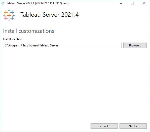 Install TSM - Tableau