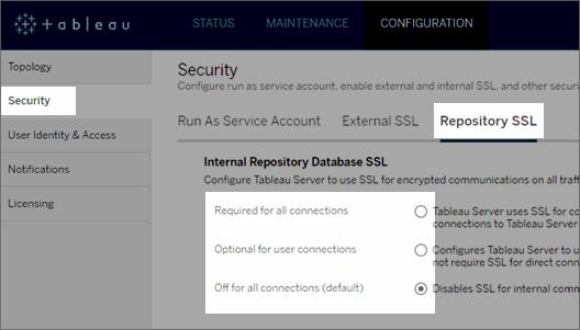 Configure SSL for Internal Postgres Communication - Tableau