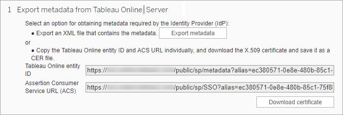 Configure Site-Specific SAML - Tableau