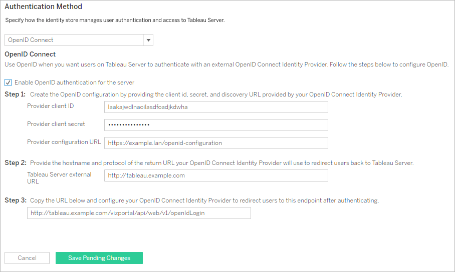 Configure Tableau Server For Openid Connect