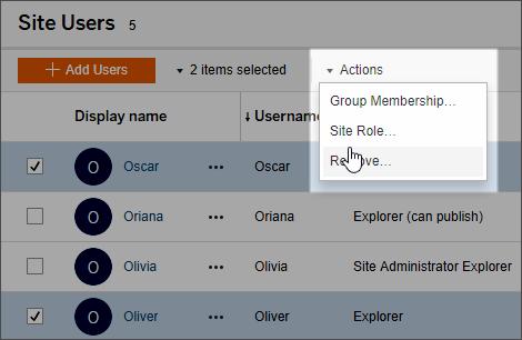 Set Users' Site Roles - Tableau